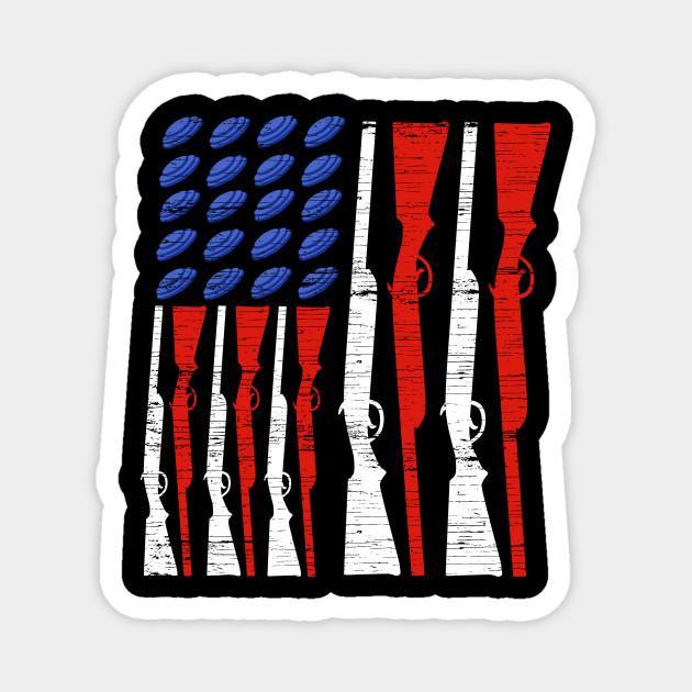 Skeet Shooting USA Flag Trap Shooting Clay Pigeon