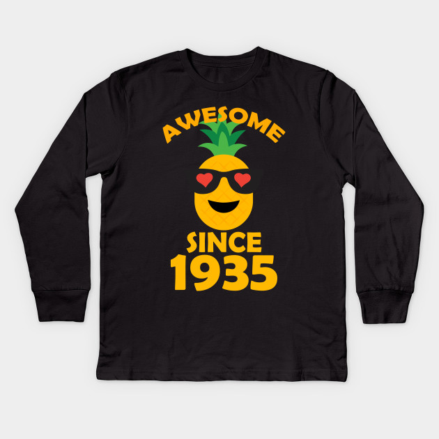 Pineapple Since 1935 Perfect My 83th Years Old Birthday Shirt