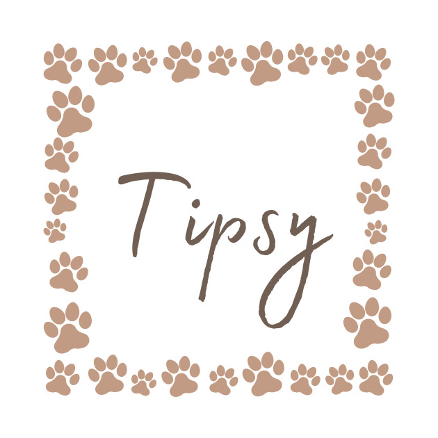 Pet name tag - Tipsy