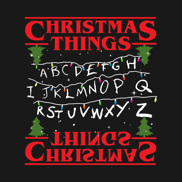 A Stranger Things Christmas.Stranger Things Christmas Things