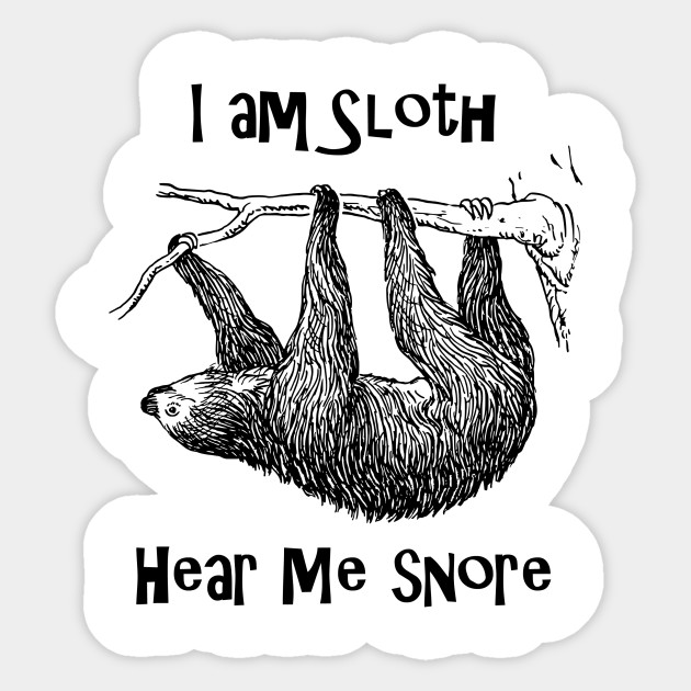 I Am Sloth Stickers