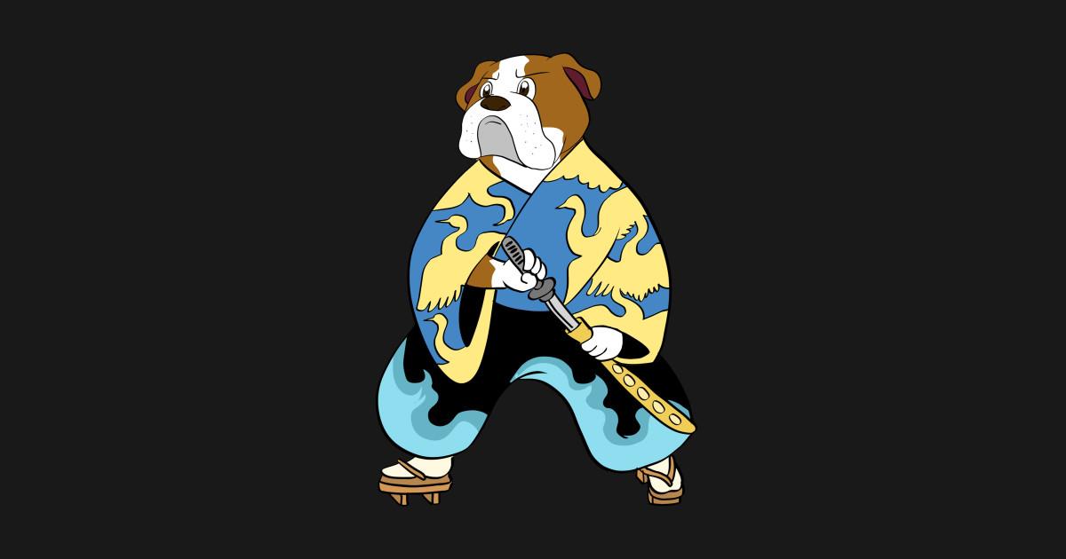 English Bulldog Samurai by happypaws