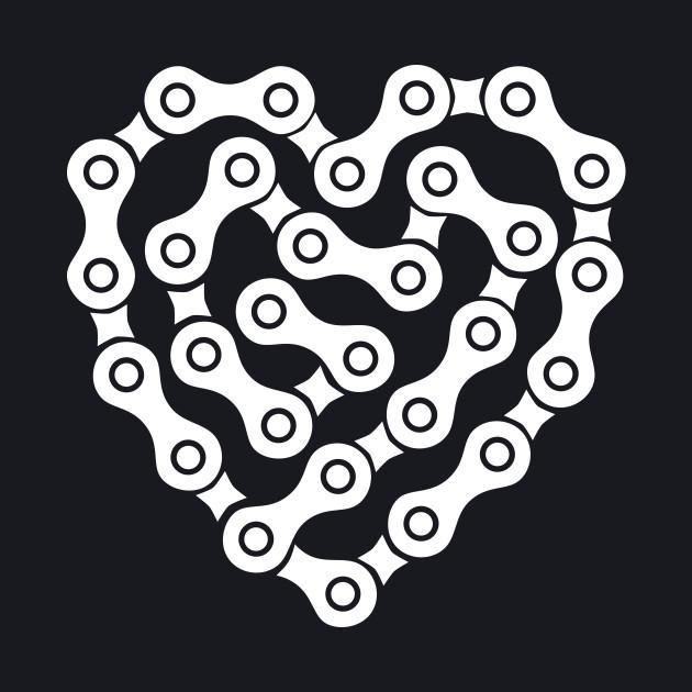 Bicycle Chain Heart Shape - Love Bikes