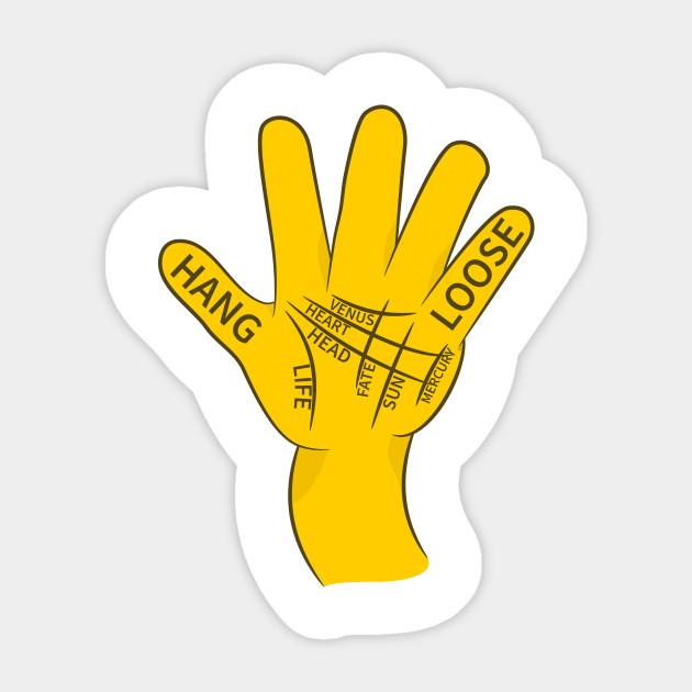 Palmistry Hang Loose Shaka Sign