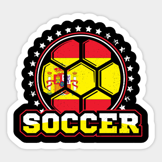 Soccer Flag Of Spain Sticker