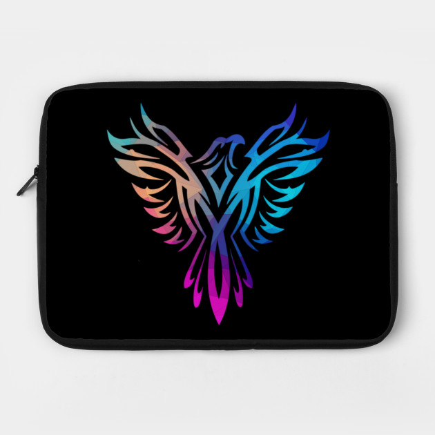 Stylish Colorful Polygon Pastels Phoenix Mythical Rising Born Again