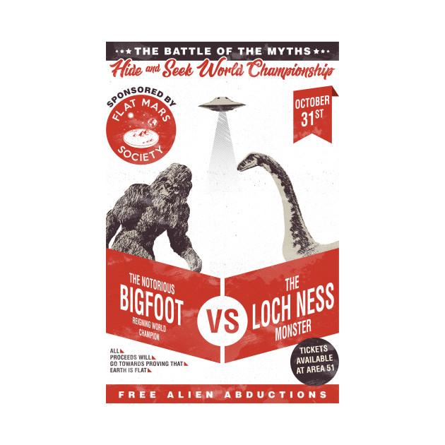 Bigfoot VS Loch ness monster (hide and seek)