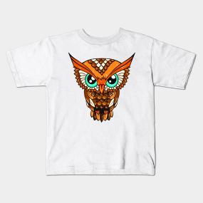 Owl Design Kids T-Shirts   TeePublic