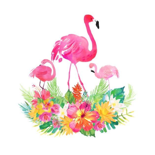 Pink flamingos tropical flowers pink flamingos t shirt teepublic 2703764 0 mightylinksfo