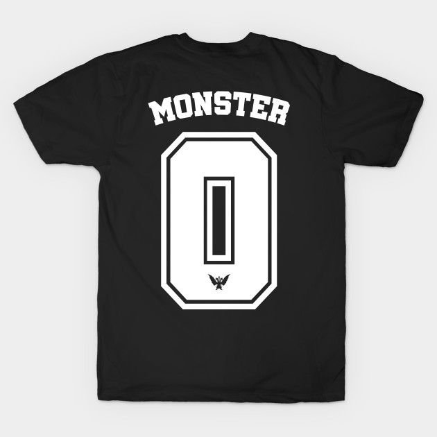 4accda01f Monster Zero – football-style shirt (white) - King Ghidorah - T ...