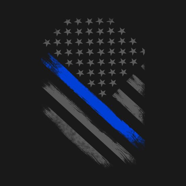 thin blue line flag tactical - thin blue line flag
