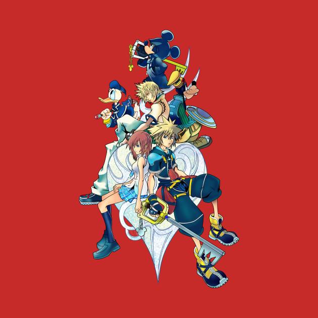 Kingdom Hearts Mickey Sora Donald