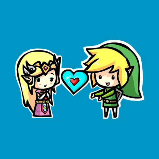 Link and Zelda - The Legend of Zelda