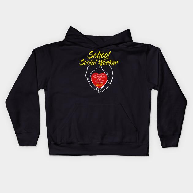 I Love Heart My Job Black Kids Sweatshirt