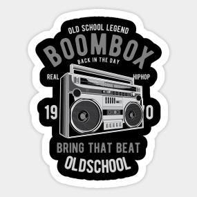 Boombox Stickers | TeePublic