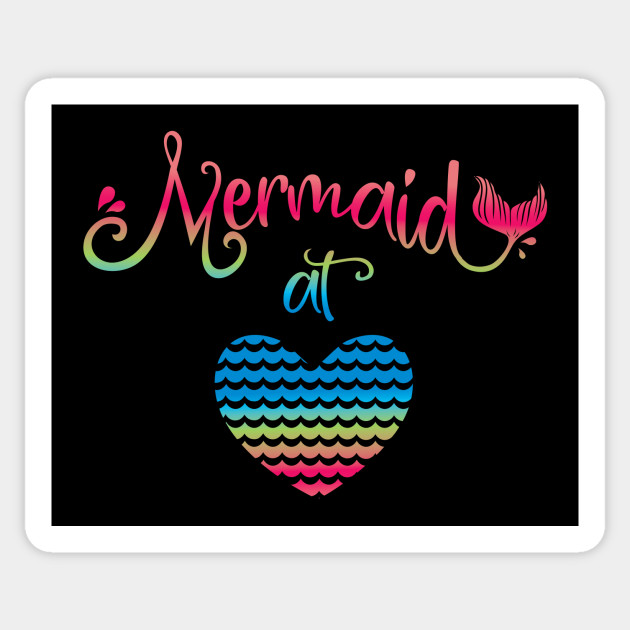 Mermaid At Heart Fun Summer Swimming Design