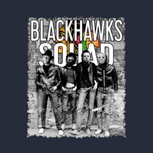 1f6fd77147ab Halloween Freddy Jason Michael Myers Blackhawks Fans Leatherface Squad T-Shirt  T-Shirt