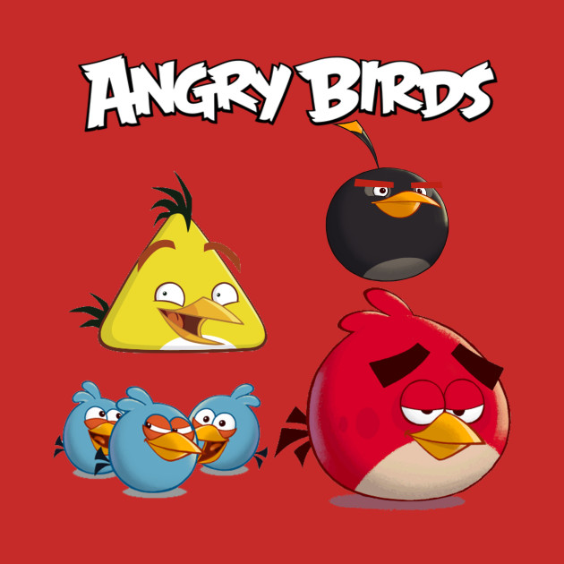Angry Birds Red, The Blues, Chuck and Bomb