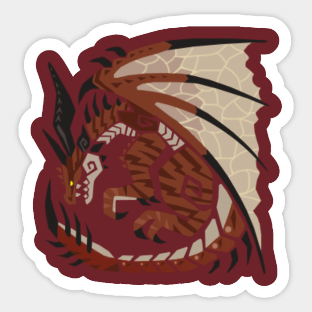 Safi Jiiva Monster Hunter World Iceborne Sticker Teepublic