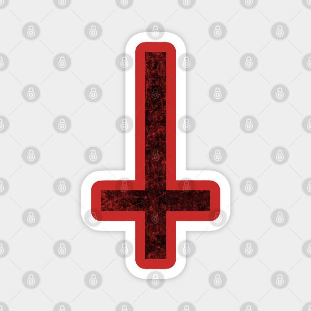 Inverted Cross Black Grunge