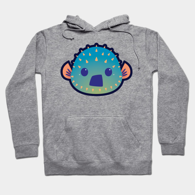 7c8e02307 Shocked Puffer Fish - Surprise - Hoodie