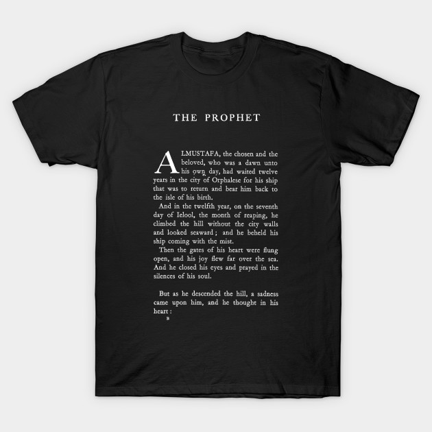 The Prophet Kahlil Gibran First Page T-Shirt