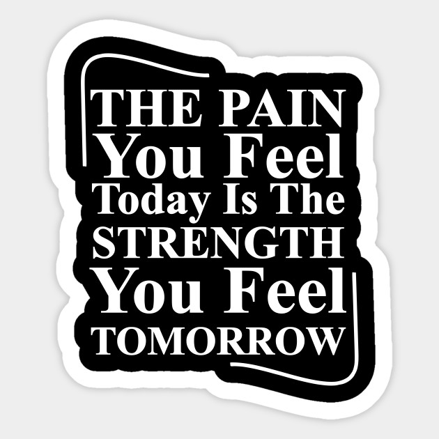 No Pain No Gain Inspirational Life Quote Typography Text Sticker