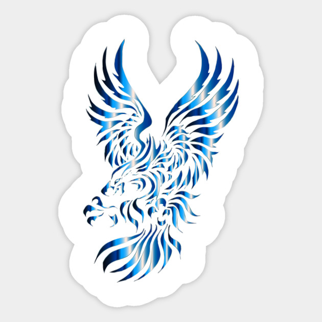 417d2399 LIMITED EDITION. Exclusive Chromatic Tribal Eagle 2 7 No Background Sticker