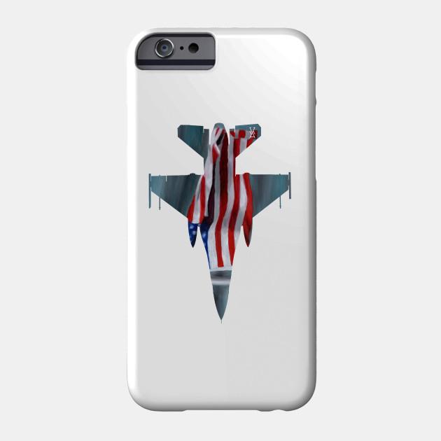 F16 American Flag Silhouette Plane Phone Case Teepublic