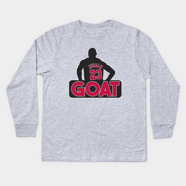 223e23ddb1bd Jordan GOAT - Nba - Kids Long Sleeve T-Shirt