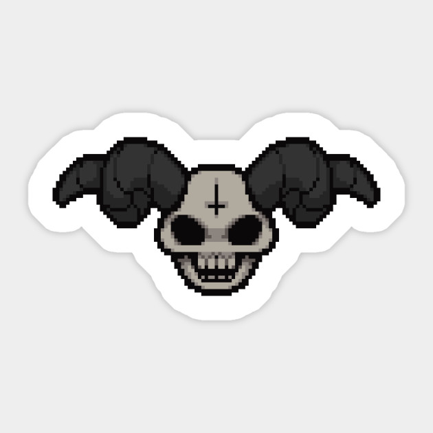Pixelated Skull Sticker