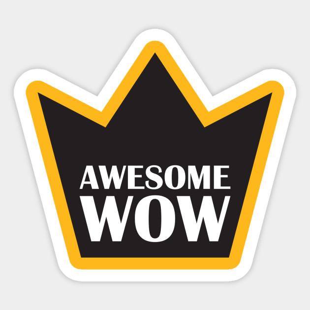 Awesome Wow Hamilton Sticker Teepublic