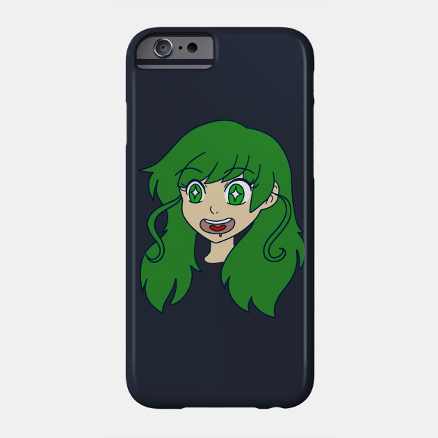 Happy Green Haired Girl