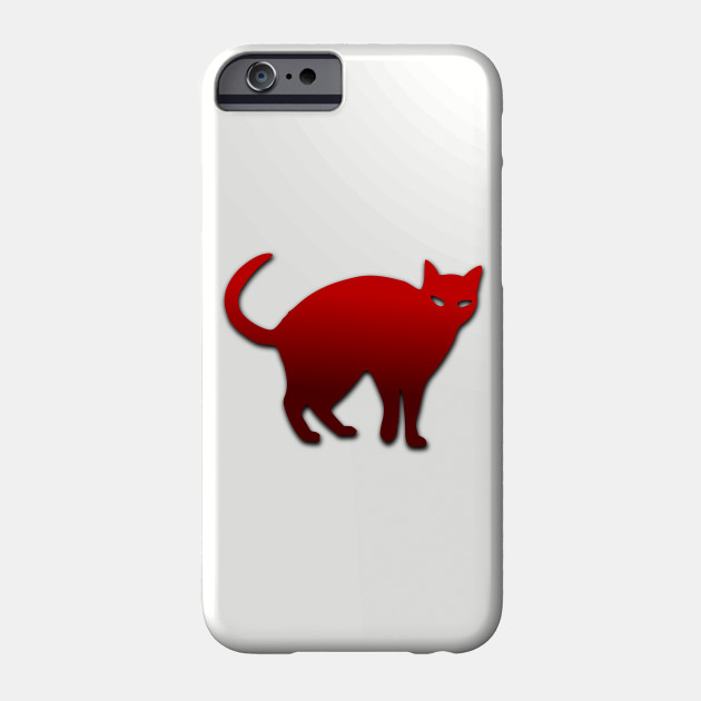 Halloween Cat Red Spooky Angry Tail Pet Animal Phone Case