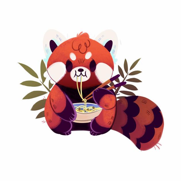 Panda eating Ramen