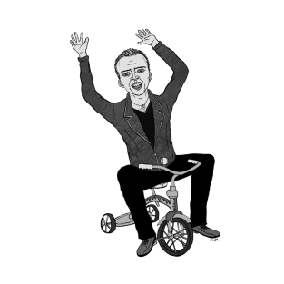 Nicolas Cage on a Tricycle