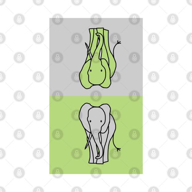 Two Big Grey Elephants