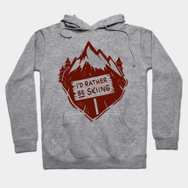 efc02ae1ac Funny Skiing T-Shirts and Gifts - I´d rather be skiing - Ski ...