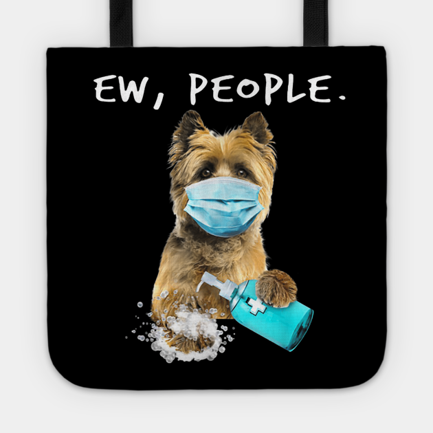 Cairn Terrier Ew People Dog Wearing A Face Mask