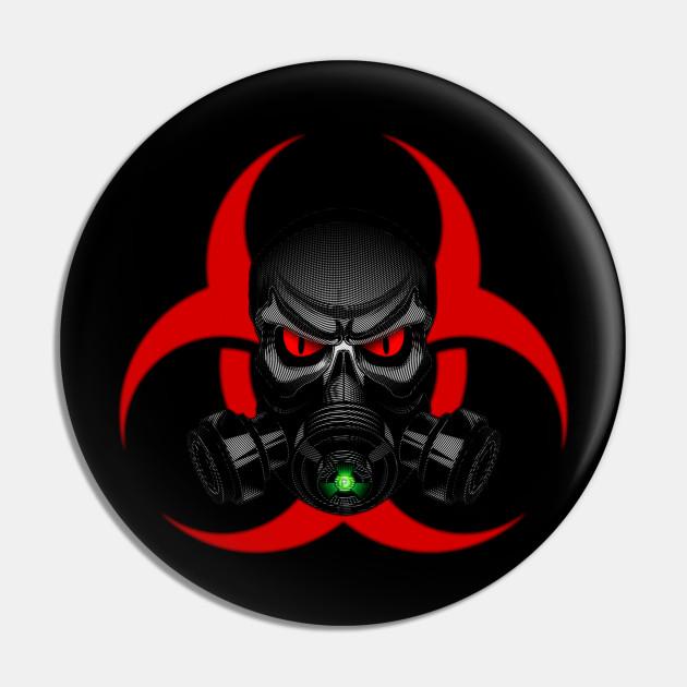 Skull Gas Mask Skull Gas Mask Pin Teepublic Au