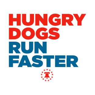 6814991b567 Hungry Dogs Run Faster Philadelphia Basketball T-Shirt