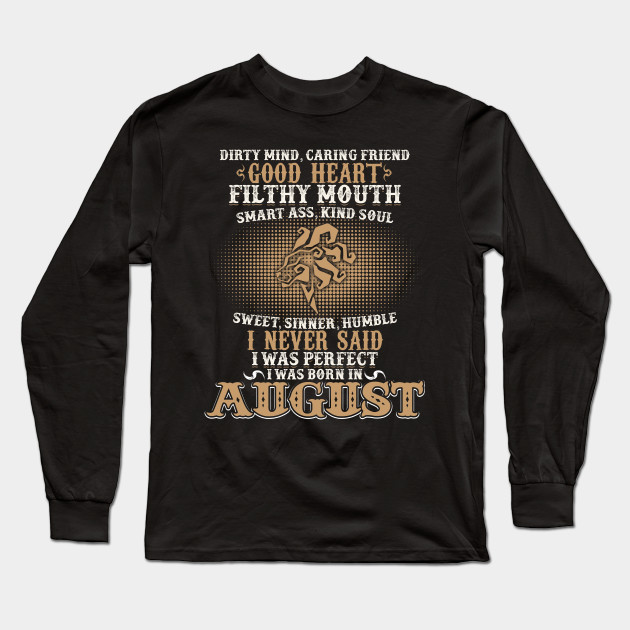Funny August Shirts For Men Leo Birthday Best Gift Long Sleeve T Shirt