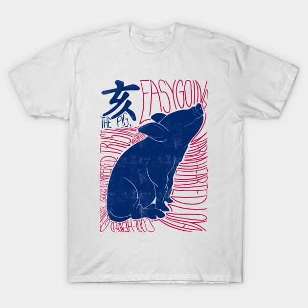 5a140dec The Pig Shio Chinese Zodiac Sign - Chinese Zodiac Pig - T-Shirt ...