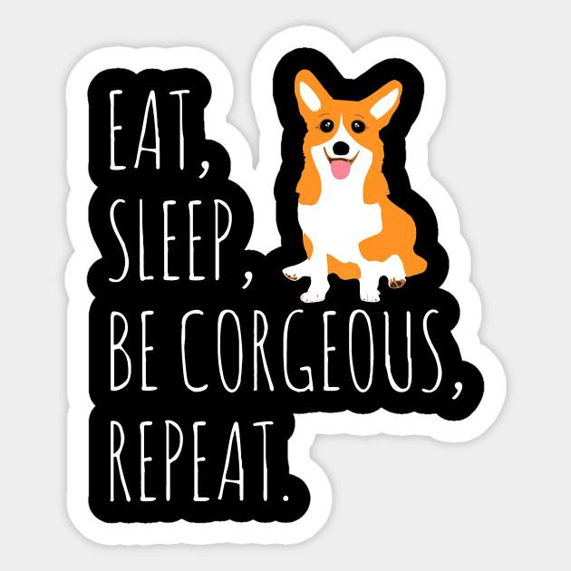 Funny Corgi Vinyl Sticker Hey Corgeous!