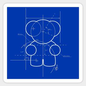 Blueprint Stickers | TeePublic