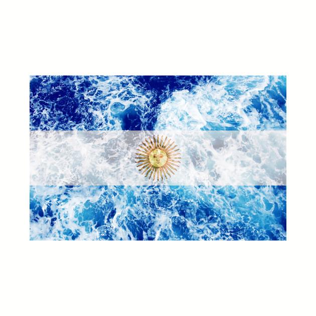 Flag of Argentina – Ocean Waves