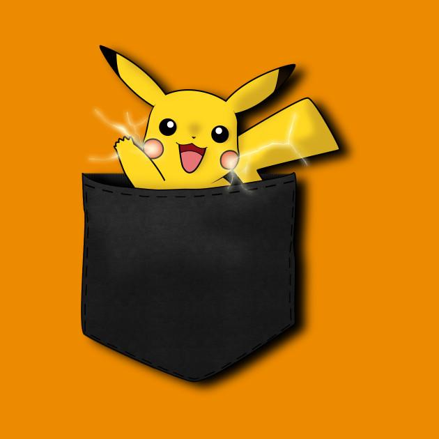9a8f4f315 Thunder Pocket - Pikachu - Kids T-Shirt | TeePublic