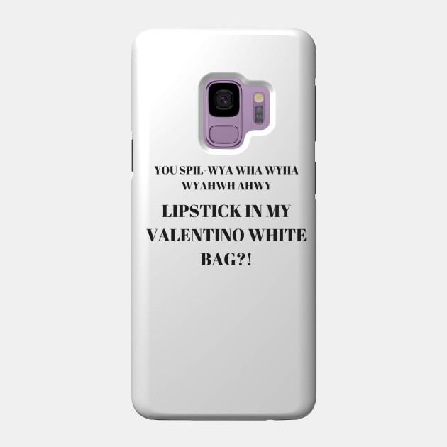 1c5883031a LIPSTICK IN MY VALENTINO WHITE BAG - Vine - Phone Case