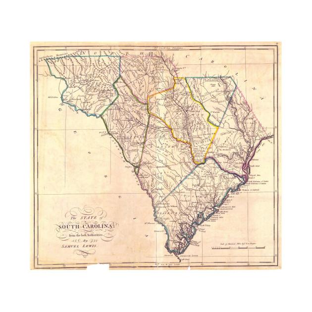 Vintage South Carolina Map.Vintage Map Of South Carolina 1818 South Carolina Map T Shirt