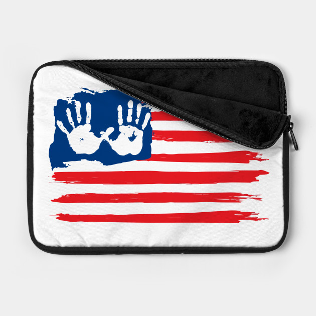 Fourth of July Party Shirts American Flag with baby hands Gifts T-Shirt